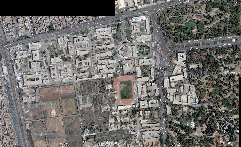 أستخدام جوجل إيرث لأستخراج صورة مجمعة للقمر الصناعي كويك بيرد لمنطقة دراسة Space Management إدارة المكان