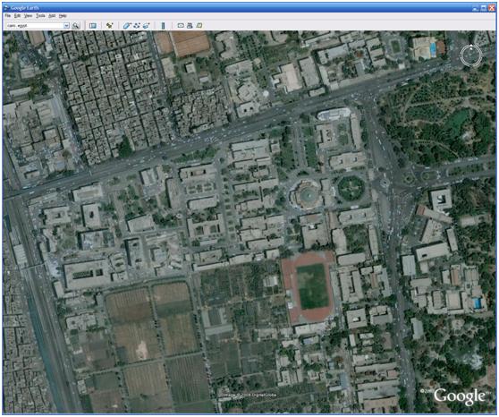 أستخراج الصور الفضائية مصححة مكانيا من جوجل أ يرث Space Management إدارة المكان