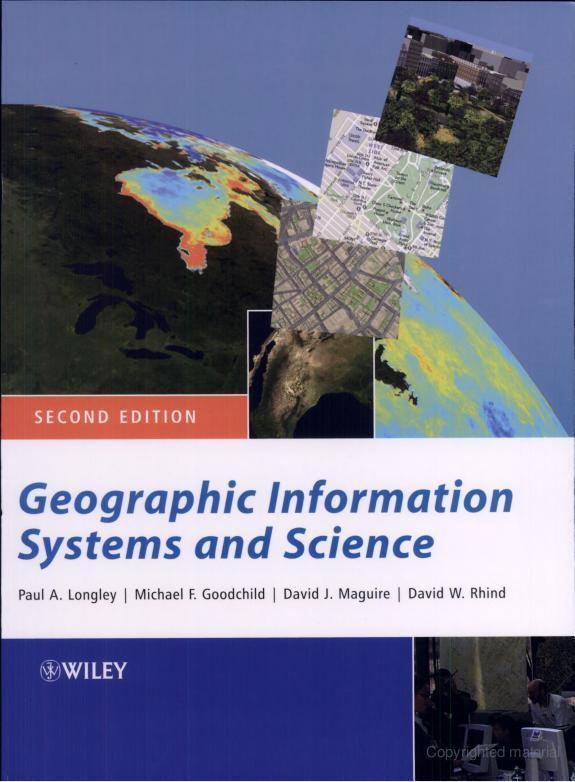 غلاف كتاب نظم وعلوم المعلومات الجغرافية