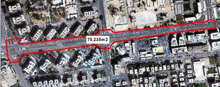 حساب عدد المتظاهرين بالقرب من مسجد رابعة العدوية