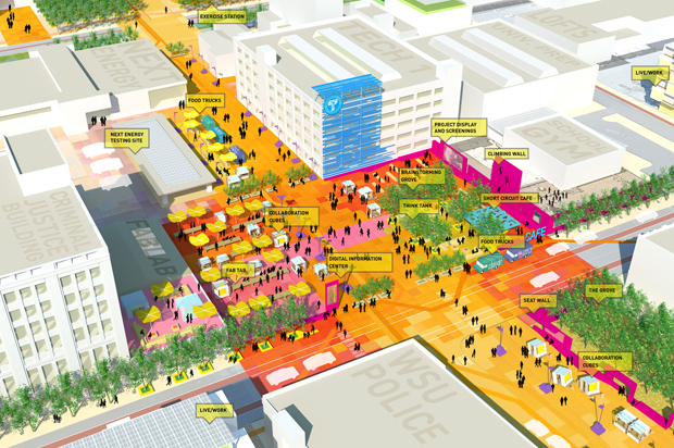 مثال لإظهار فكرة التصميم العمراني