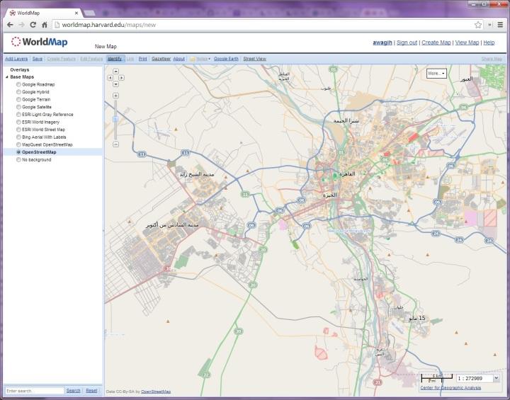 وورلد ماب - تطبيق من جامعة هارفارد لأنتاج الخرائط على الأنترنت